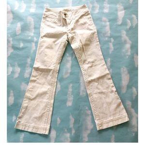 CAbi Contemporary Bright White Bootcut Jeans